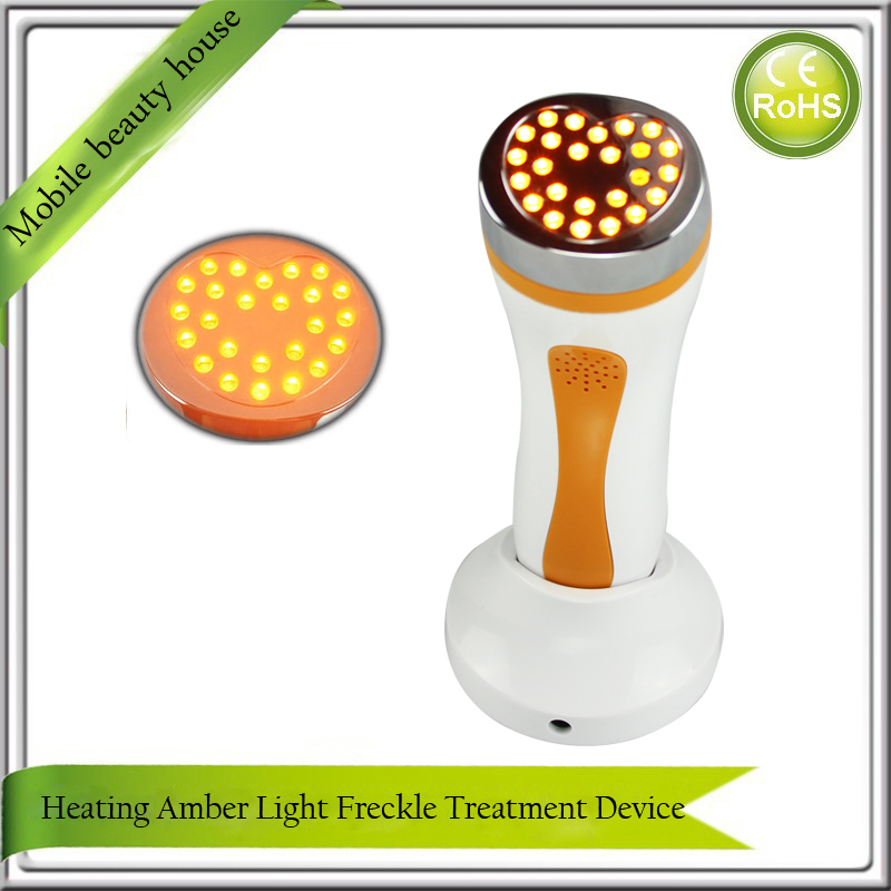 Portable Bio Amber Heating Light Photon Therapy PDT Age Dark Spots Pigment Freckle Removal Skin Whitening Facial Beauty Machine