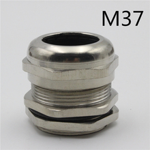 1piece  M37*1.5 Nickel Brass Metal Silica gel Waterproof Cable Glands connector Apply to Cable 18-25mm