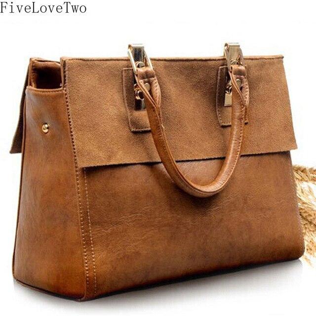 675d0e6d8e FiveLoveTwo Women Fashion Solid Color Bag Vintage Genuine Leather Crossbody  Stitching Boston Zipper Handbags