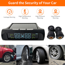 Система мониторинга давления в шинах Система контроля давления в шинах на солнечных батареях автомобильная система мониторинга давления в шинах ЖК-дисплей датчики для VW Toyota SUV