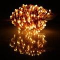 40 m 400 LED Fio de Cobre LED String Fada Luzes de Natal Ao Ar Livre Branco Quente Luzes Estrelado Luz + Adaptador de Energia (REINO UNIDO, EUA, UE, AU Plug)