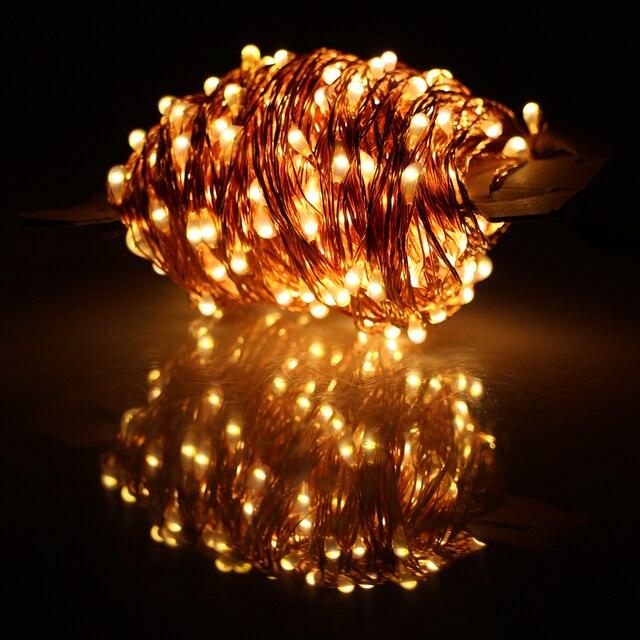 40 mt 400 LED Outdoor Lichterkette Warmweiß Kupferdraht LED ...