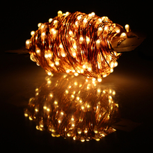 40m 400 LED Outdoor Christmas Fairy Lights Warm White Copper Wire LED String Lights Starry Light+Power Adapter(UK,US,EU,AU Plug)