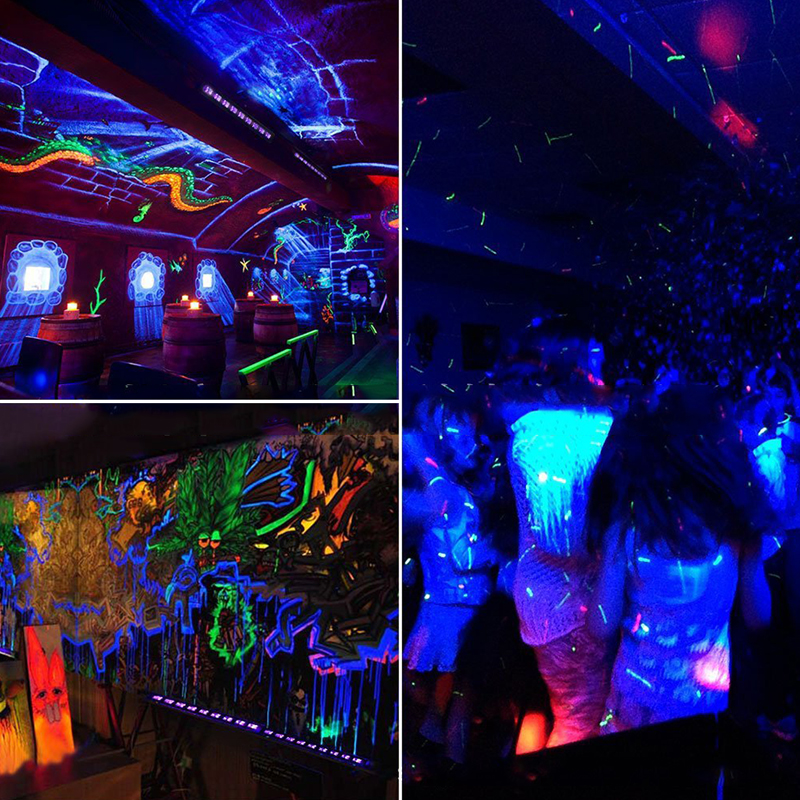 Us 30 07 34 Off Uv Black Lights Disco Light 36w 12 Led Blacklight Stage Lighting Effect Indoor Bar Wall Washer For Christmas Party Dj Lamp In