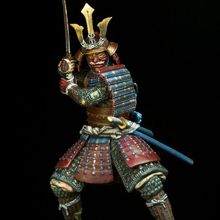 Assembly  Unpainted  Scale 1/24 75mm ancient japan Samurai, 16th-17th 75mm  figure Historical  Resin Model
