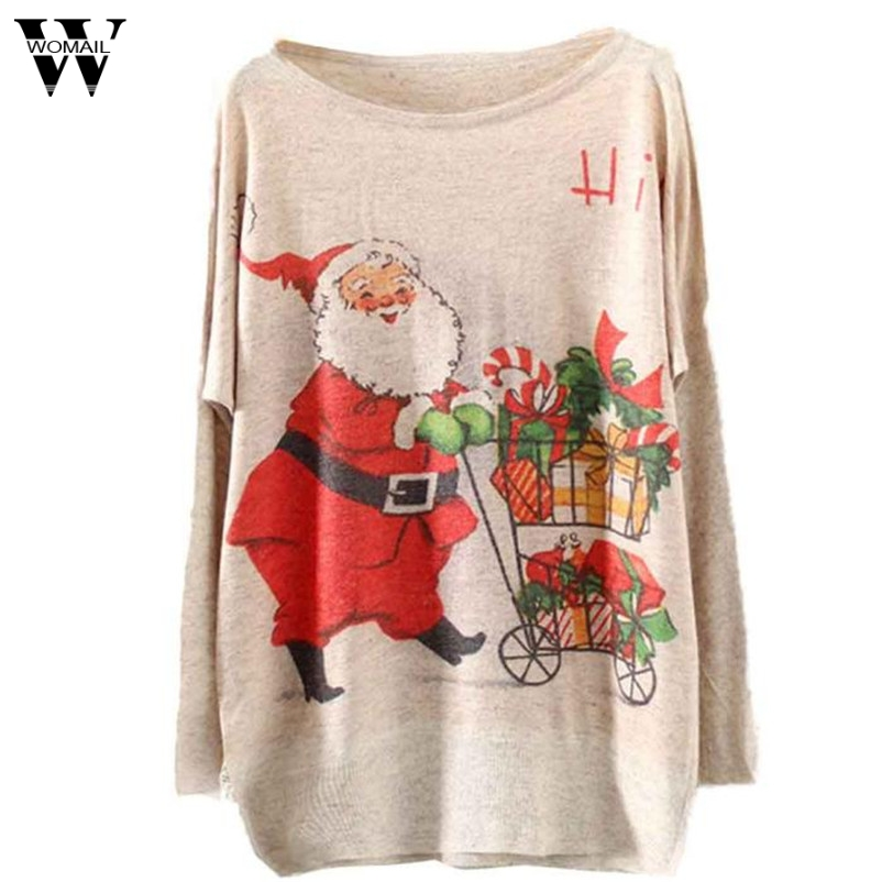 WOMAIL Good Deal Women 2017 Winter Warm Sweater Knitting Christmas Batwing Knitted Long Sleeve Jumper Tops Drop Shipping Gifts