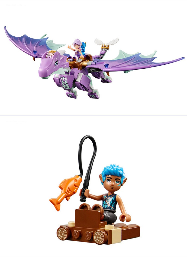 Fairy Elves The Dragon Sanctuary Building Blocks Sets Gift Toy Lego Elves 41178