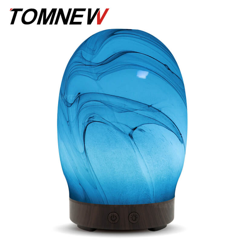 все цены на TOMNEW 100ml Glass Aromatherapy Ultrasonic Essential Oil Diffuser Essential Oils Cool Mist Humidifier for Home Office Yoga Spa онлайн