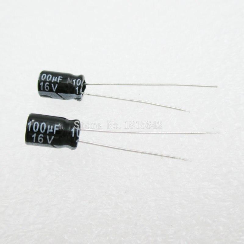 20PCS/LOT Aluminum Electrolytic Capacitor 100uF 16V 5*7 Electrolytic Capacitor 16v 100uf
