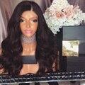 7А 150% Плотность Полный Шнурок Человеческих Волос Парики Бразильского Виргинские волосы Объемная Волна Фронта Шнурка Человеческих Волос Парики Для Черного женщины