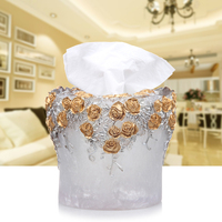 European dinner drum paper towel box round table dining room table napkin napkin paper