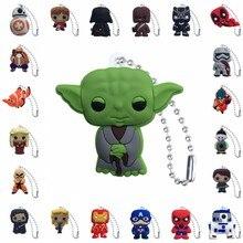 500pcs wholesale PVC Keychain Cartoon Figure Star War Metal Ball Chain Key chain Christmas Gift Charms Trinket