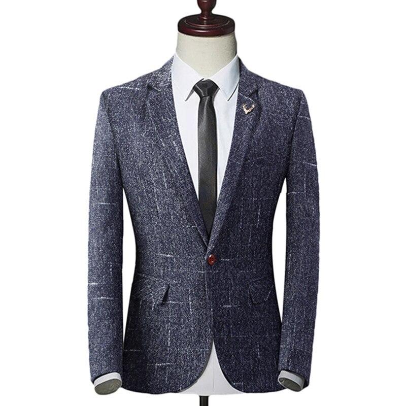 2018 Fashion New Men's Casual Boutique Business One Button Suit / Male Slim Blazer Jacket Coat