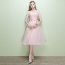 2017 neue Ankunft Rosa A-linie Kurze Brautkleider Knielangen Abendkleider Graduation Kleid Homecoming Kleid Vestido de Festa