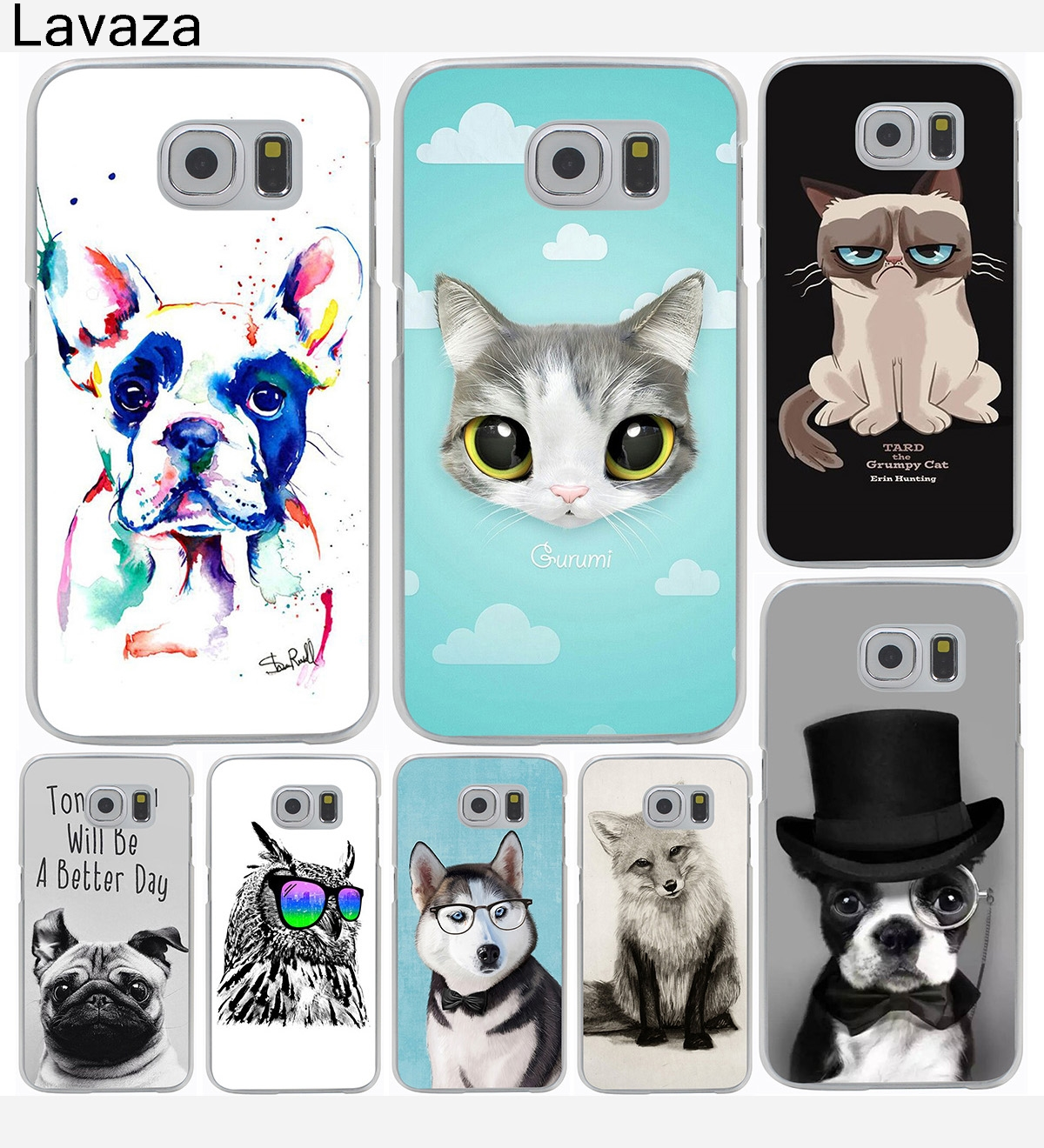 lavaza fashion programmer cat animal dog hard phone cover case for