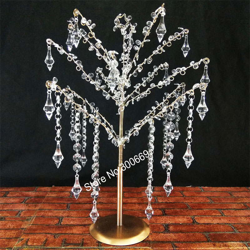 free shipping fee 10pcs new style wedding crystal acrylic table tree centerpieces flower stand wedding Acrylic