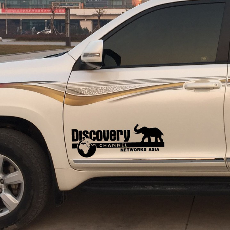 Discovery Channel style words decor car styling,car side door tail window refit stickers and decals,die cut vinyl film sticker bike decals mtb frame stickers bicycle decorative stickers die cut decal sticker sheet