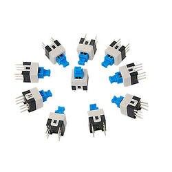 10 sztuk 6 Pin DPDT chwilowy przycisk klucz takt przełącznik dotykowy non-lock 7x7mm