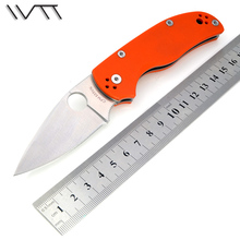 WTT C41 Pocket Folding Knife For D2 Blade G10 Handle Camping Hunting Multi Tools Utility Outdoor Tactical Survival EDC Knives