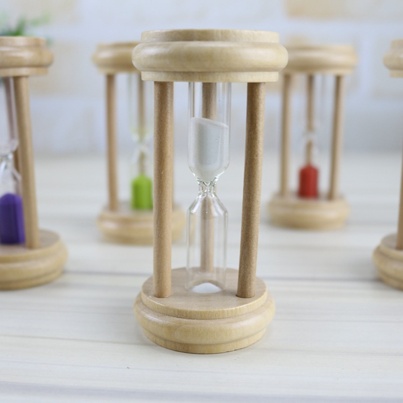 1-10pcs Creative Wooden 1 2 3 Minute Timer Time Hourglass Home Crafts  Decoration Small Ornaments Laboratory Kitchen Restaurant