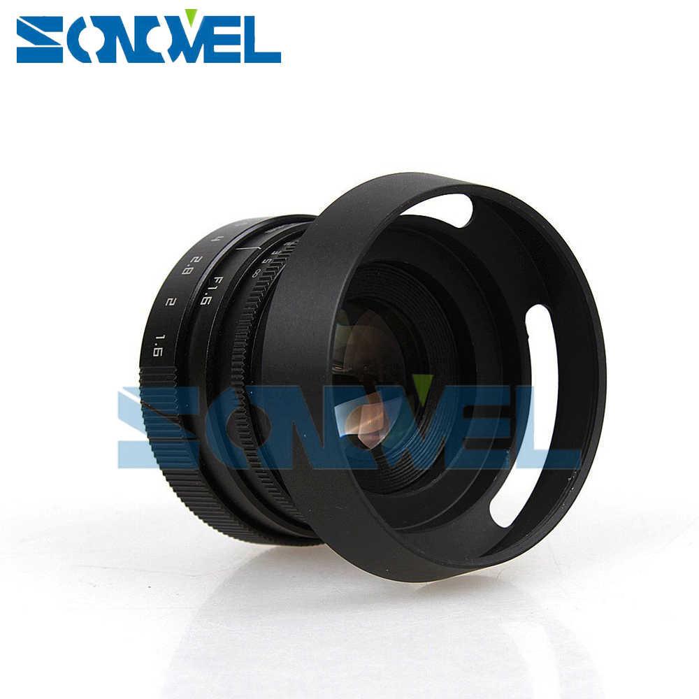 Fujian 35 мм F1.6 Объективы для видеонаблюдения с-образное крепление для объектива + бленда объектива + Кольцевая вспышка для макросъемки для цифровой фотокамеры Fuji Fujifilm X-E2 X-E1 X-Pro1 X-M1 X-A2 X-A1 X-T1 X100T X-T10