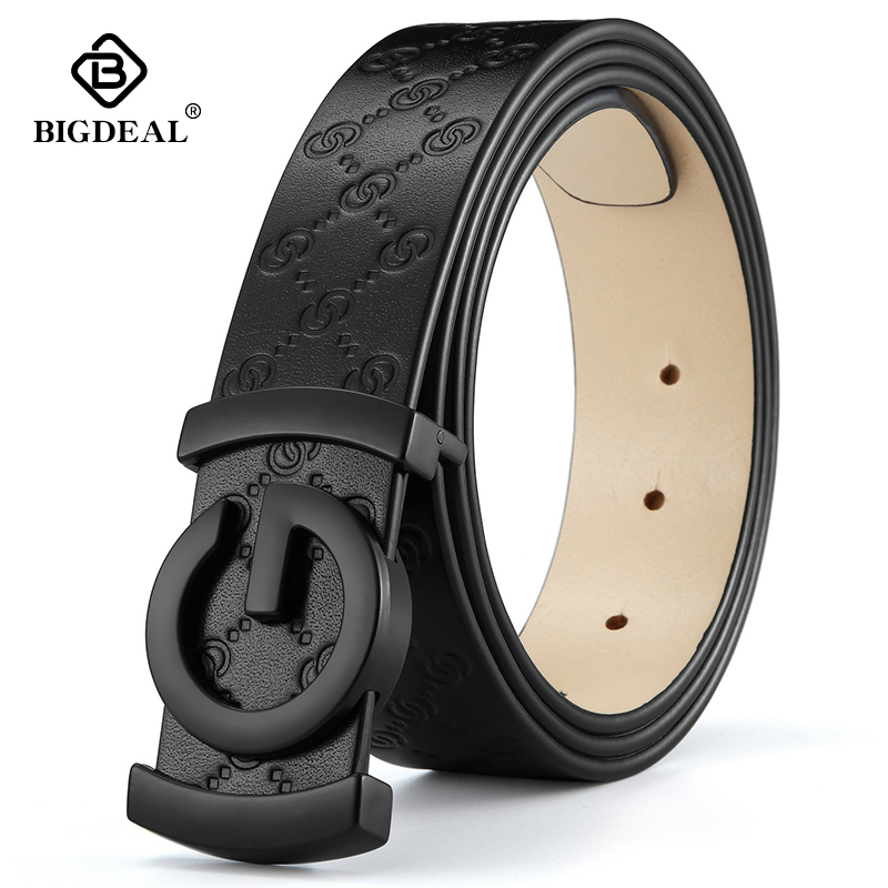 men belt cow genuine leather designer belts for men high quality fashion vintage male