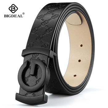 men belt cow genuine leather designer belts for high quality fashion vintage male women strap jeans skin - discount item  55% OFF Belts
