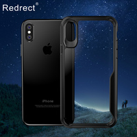 Luxury For IPhone X Case Drop Protection HD Clear Acrylic PC Back Cover For Fundas IPhone