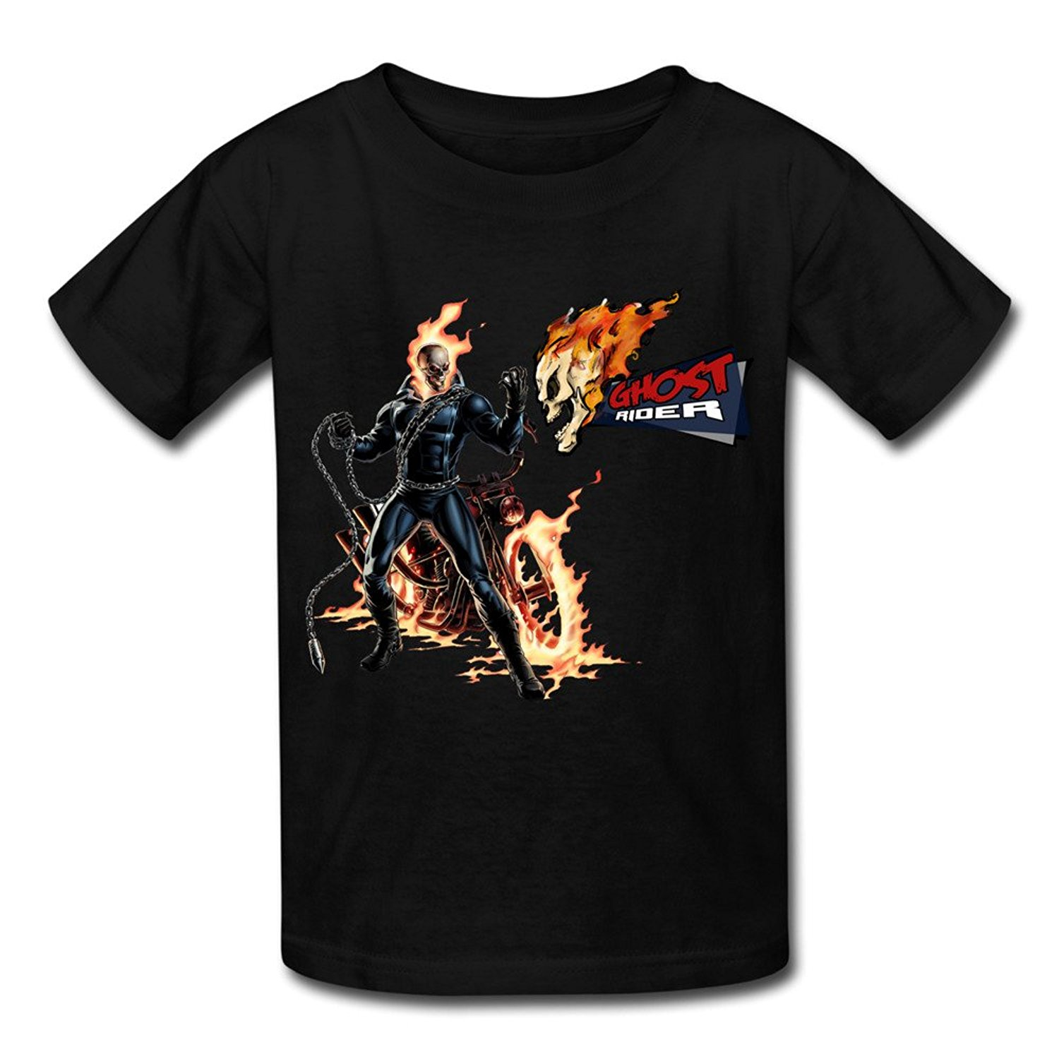 Supernatural Ghost Rider Big Boys & Girls Cotton T Shirt Black Men Clothing Plus Size S M L Xl Xxl Hipster