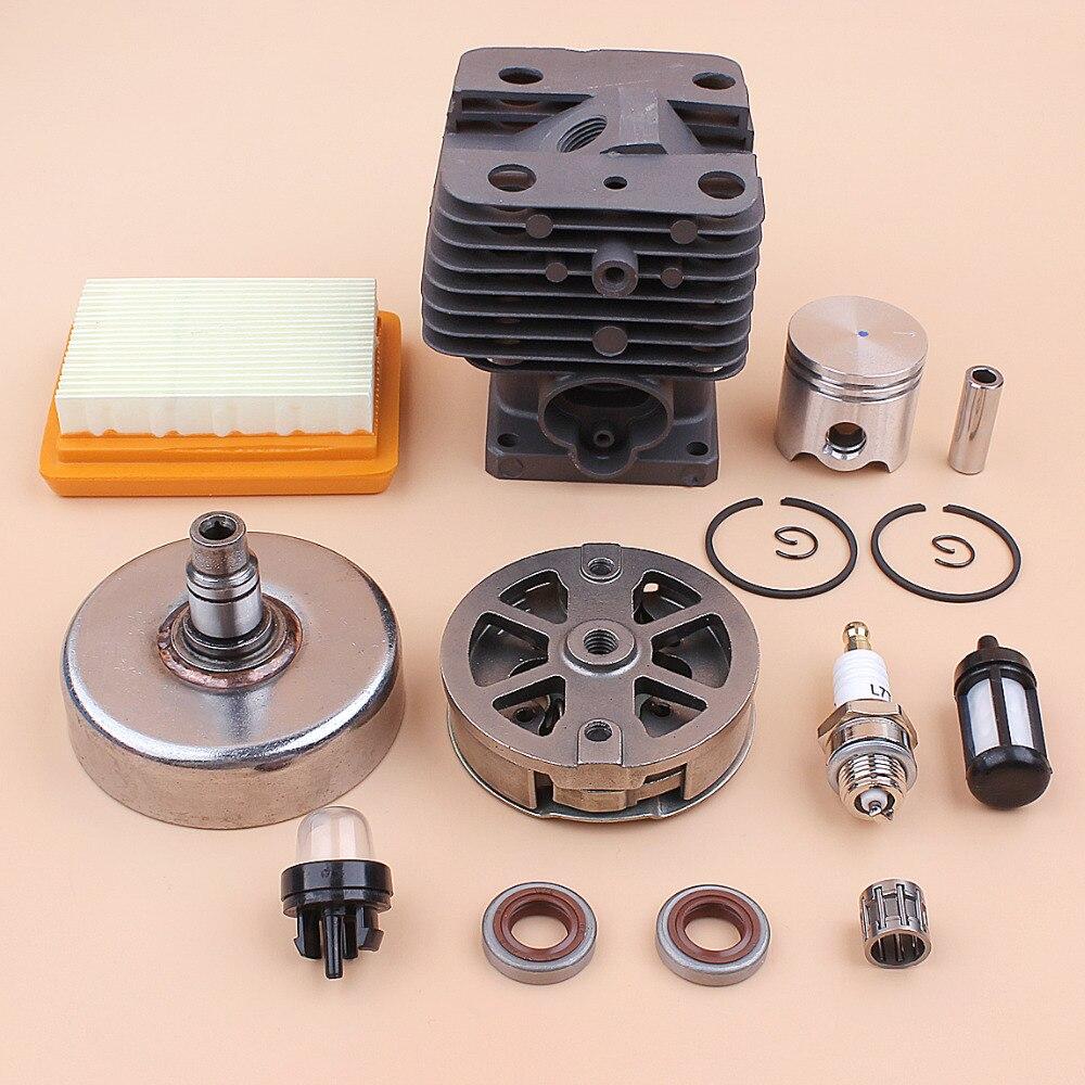 35MM Cylinder Piston Air Filter Clutch Drum Oil Seal Rebuild Kit For STIHL FS120 FS200 FS250 Brushcutter Trimmer Engine Motor