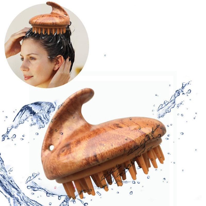 Spa Slimming Hair Shampoo Brush Silicone Head Body Scalp Comb Shower Bath Brush Props Hair Washing Comb Tool Set