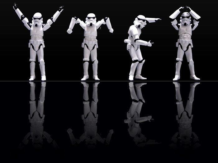 0030b Ymca Stormtroopers Star Wars Sci-fi-wand Aufkleber Seide Poster Licht Leinwand Dekoration