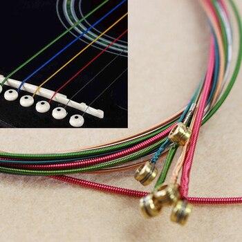 6Pcs/Set Acoustic Guitar Strings Rainbow Colorful Guitar Strings E-A For Acoustic Folk Guitar Classic Guitar Multi Color агнета фальтског agnetha faltskog a deluxe edition cd dvd