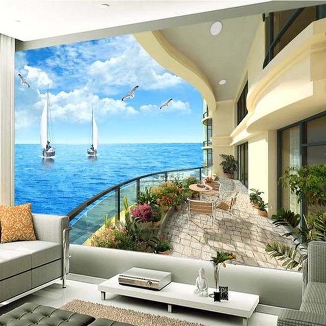 Individuelle Fototapeten 3D Wohnzimmer Sofa TV Hintergrund Wand ...