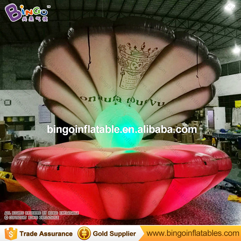 Charitable Personalized 4m Diameter Giant Inflatable Seashell / Inflatable Seashell Balloon / Inflatable Seashell With Led Lights Toys