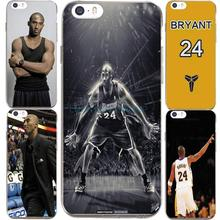 For IPhone7 7Plus 4 5S SE 6 6S Case For NBA Super Star Kobe Bryant 24 Jersey Transparent Silicone soft slim Tpu Phone Cover