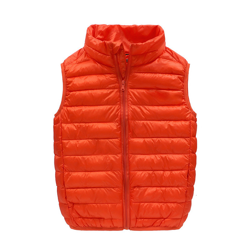 JKP Lightweight vest autumn and winter warm new boys and girls fashion coats children down vest down jacket children MF-201 new heated down vest usb charging vest skiing hiking camping winter men vest down keep body warm blue black size s xxl