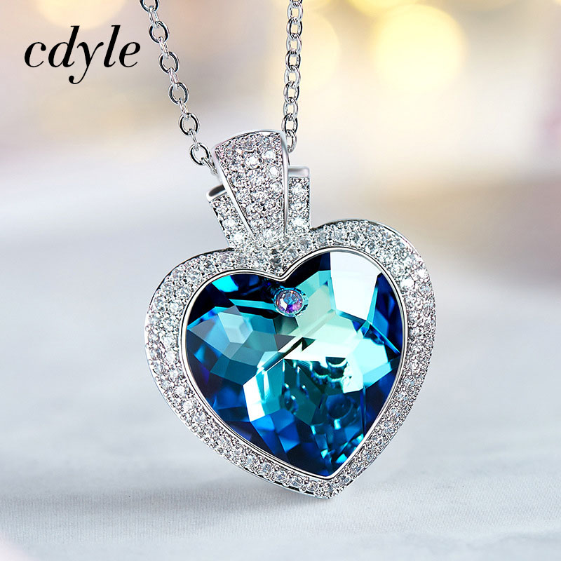 Cdyle Crystals from Swarovski Fashion Blue Light Jewelry Chi