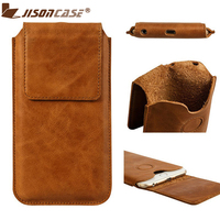 Jisoncase Vintage Genuine Leather Protective Case For IPhone 6 Sleeve Cover Magnetic Closure Carrying Bag Pouch