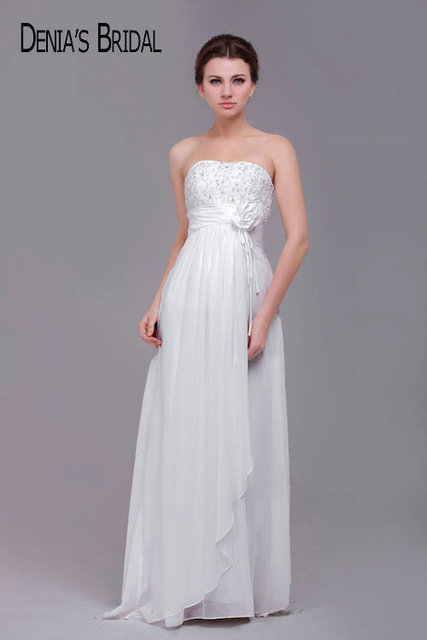 Feminine Strapless Sheath Liques Chiffon Bridal Gowns With Sashes Pleated Skirt Sleeveless Sweep Train Wedding Dresses