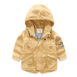 Image 2 - Весенне осенняя куртка Верхняя одежда для мальчиков ветровка с длинными рукавами, детский плащ с капюшоном для малышей, От 7 до 12 лет