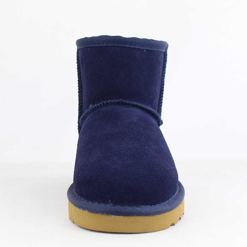Новинка; классические женские зимние ботинки наивысшего качества в австралийском стиле; Коллекция 100% года; ботильоны из натуральной воловьей кожи; теплые зимние ботинки; женская обувь