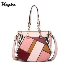 KXYBZ Luxury Handbags Women Bags Designer Fashion Crossbody Bag For Handbag Ladies Patchwork Soft PU Leather 2018 Tote