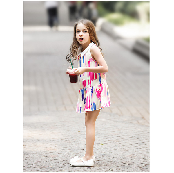 2015 3 8 Year Old Summer Dress For Girls European Style