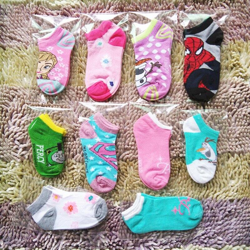 1PC 1 To 15 Year Old Baby Cartoon Boat Socks Boys Girls Children Socks Stripes Cute Four Seasons Can Wear