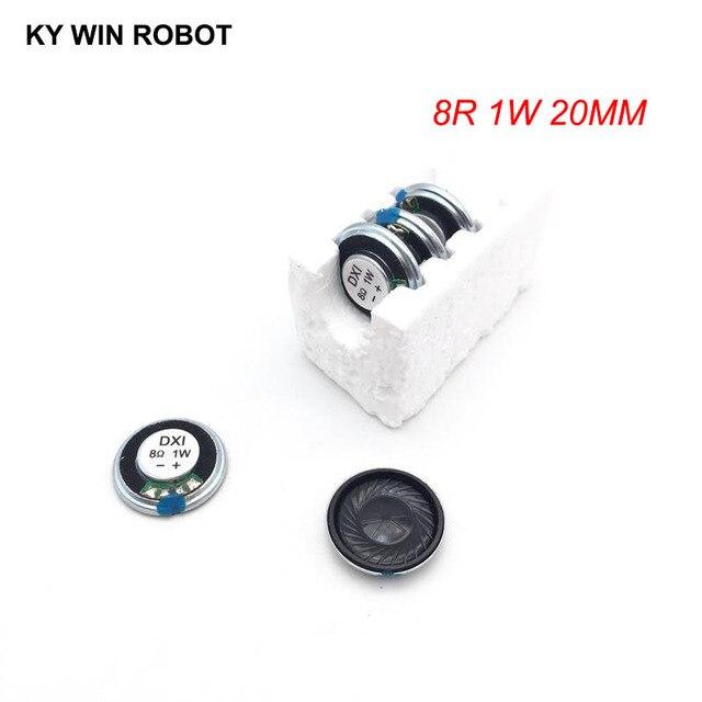 5 adet/grup Yeni Ultra ince Mini hoparlör 8 ohm 1 watt 1 W 8R hoparlör Çapı 20 MM 2 CM kalınlığı 4 MM