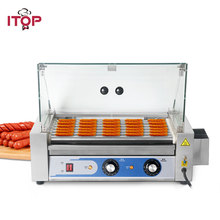 цена на ITOP 7/9 sticks hot dog roller machine sausage roasting machine stainless steel hot dog ham BBQ grills sausage rollers