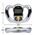 Body Fat Monitors Handheld LCD Display BMI detector Fat analyzer  weight losing measure instrument Health Care