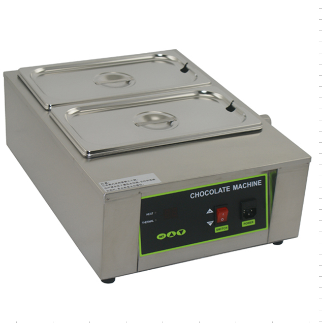 Free shipping 2 Tank Digital Chocolate Melting Machine Solid Butter Melting Furnace fast shipping food machine digital chocolate melting machine stainless steel chocolate machine household and commercial