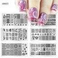 1 unids Caliente de La Manera Diseño de Imagen Sello Polaco Nail Art Stamping Plantilla Plantillas de Manicura de Acero Inoxidable XYJ01-16